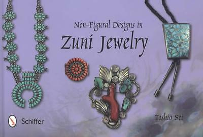 Zuni Jewelry Non-Figural Designs Collector Reference w Turquoise & Silver