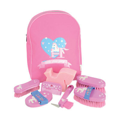 Hy Little Rider Kids Children's Grooming Kit With Rucksack Pink Or Blue