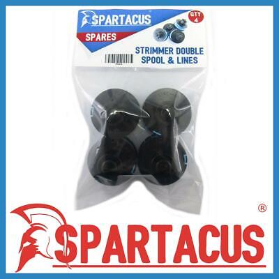 Pack of 4 Spartacus Spool and Blue Strimmer Trimmer Single Line for Many Brands