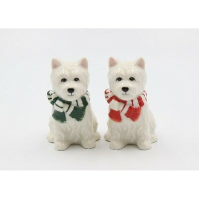 Christmas Westie West Highland Terrier Dog Salt and Pepper Shakers 56579