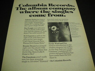 EARTH WIND & FIRE The Emotions JOHNNIE TAYLOR Boz Scaggs 1976 PROMO POSTER AD