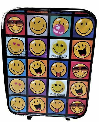 Sac Roulettes Noir Chariot Bagages 2 Valise Unisexe World À Smiley N8nXkw0OP