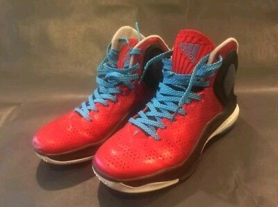 648d786743a6 Adidas Derrick Rose Size 9 Men s Basketball Shoes in Red Black with Blue  Laces