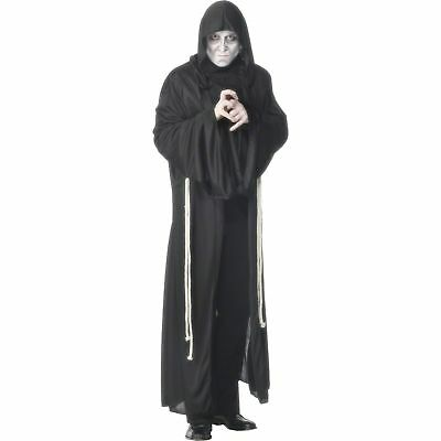 Halloween Horror Hooded Grim Reaper Robe Aduts Mens Fancy Dress Costume