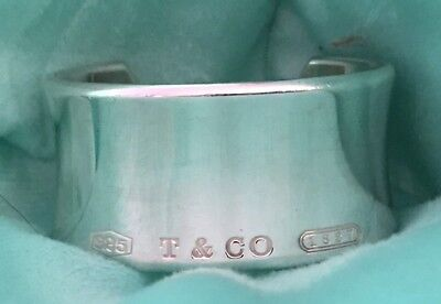 3d5d70530 2001 Authentic Tiffany & Co Sterling Silver 1837 T&CO Wide Cuff Bracelet ...