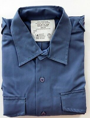 Mens vintage RAF working shirt 1970s air force uniform Banner UNUSED size 15