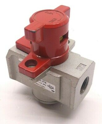 "SMC NVHS4500-N03-X116 Ball Valve Lock Out, Pressure: 0.1-1 MPa, Ports: 3/8"" NPT"