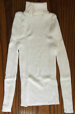 Childrens polo neck jumper UNUSED vintage 1970s ribbed sweater boy girl 12 13