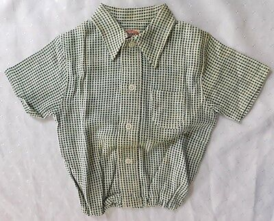 Aertex shirt baby clothes vintage 1930s 1950s short sleeve top green UNUSED