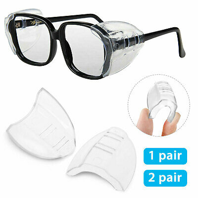 Clear Universal Flexible Protective Side Shields for Eye Glasses Safety Glasses