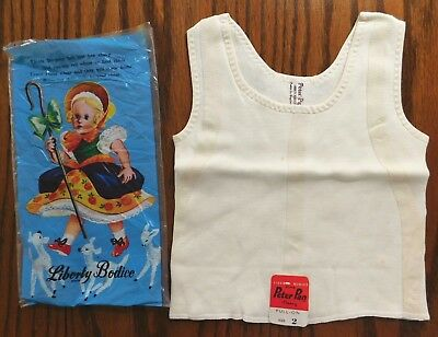 Vintage baby clothes Peter Pan Liberty Bodice fleecy vest brushed cotton UNUSED