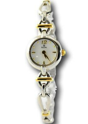 Bulova Women's 98L104 Two-Tone Gold Stainless Mother of Pearl Watch