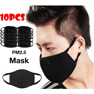 10PCS Health Cycling Anti-Dust Cotton Mouth Face Mask Respirator (Unisex )Mask