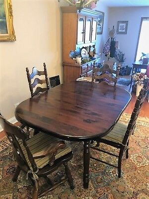 Vintage Ethan Allen Dining Table And Chair Set Perfect For