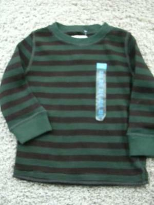 NEW Children's Place Size 24 months Green Striped Waffle T Shirt Top NWT TCP Boy