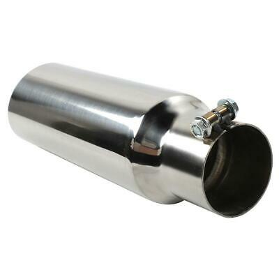"""Stainless Steel Exhaust Tip Single Wall Tip 2.5"""" Inlet - 3.0"""" Outlet - 12"""" Long"""