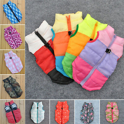 Small Pet Dog Warm Padded Vest Coat Puppy Cat Jumper Jacket Outwear Clothes Hot