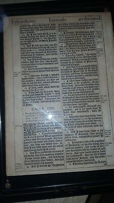 "1611 King James 1st Edition ""Jeremiah"" Bible page"