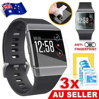 3Pcs Explosionproof Waterproof LCD Screen Protector Film Guard For Fitbit Ionic