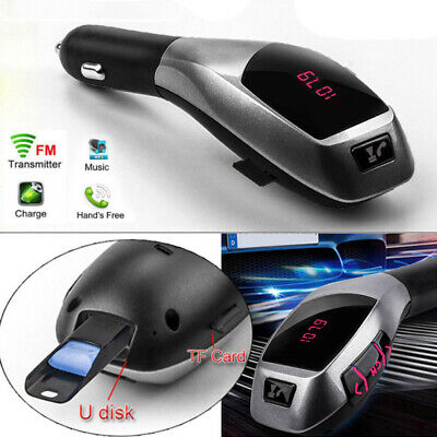 12-24V Bluetooth Car Kit MP3 Wireless FM Transmitter Radio USB SD LCD Charger