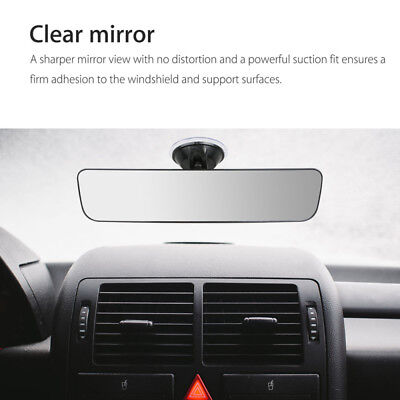 240mm Car Truck Rearview Convex Curve Wide Rear View Mirror Camera Suction Stick