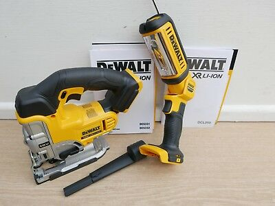 Brand New Dewalt Xr 18V Dcs331 Bare Unit Cordless Jigsaw + Dcl050 Worklight