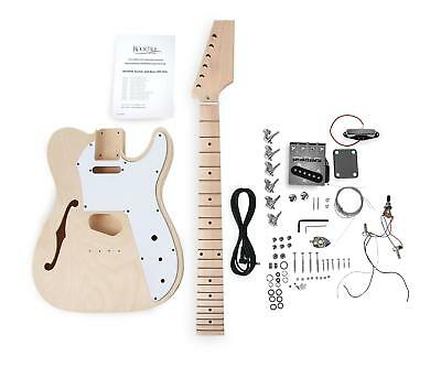 Rocktile Hollowbody TL E-Gitarre Bausatz selber bauen Do It Yourself Kit DIY Set