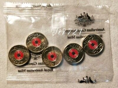 1 MINT Bag Sachet 2018 $2 coin Remmberance Day-Armistice Centenary (red poppy)