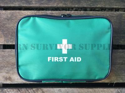 EMPTY FIRST AID KIT POUCH LARGE Green Trauma Bag New Zip Top Medical Carry Case