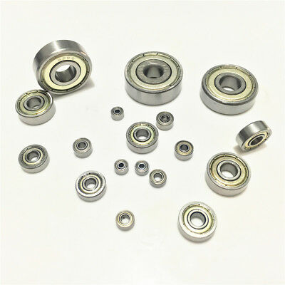 1-10pcs Deep Groove Ball Bearing 6200ZZ to 6205ZZ Metal Double Shielded Seal