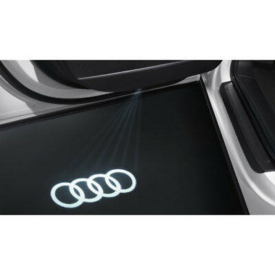 New Genuine Audi Accessory '4 Rings' Led Door Entry Lights Set - A3 A4 A5 A6