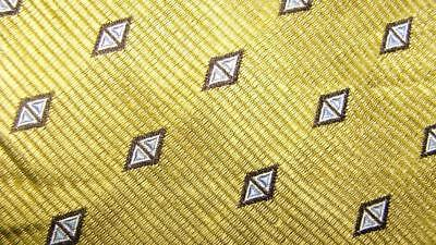 Countess Mara Made In Italy Gold Black Diamonds Silk Necktie Tie Mno0817D #v35