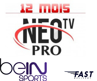 Neo pro2 iptv,12 mois abonnement,chaines fullHD,code m3u,android,mag,vod,ios.