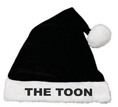The Toon Newcastle United Football Club Santa Father Christmas Xmas Hat - Fun!