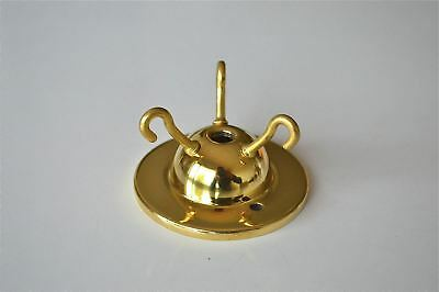 Art Deco Style Brass 3 Hook Ceiling Light Hook Rose Flycatcher Chain Hook G6