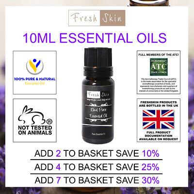 10ml Essential Oils - 100% Pure Natural Essential Oil - Aromatherapy - Freshskin
