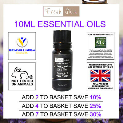 10ml Freshskin 100% Pure Essential Oils - 47 different types to choose from