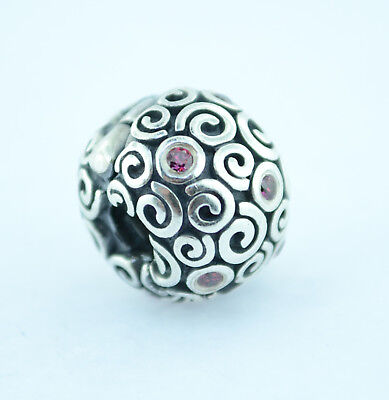 Authentic Pandora Sterling Silver Charm Fire Clip Red CZ 790962CZR Bead