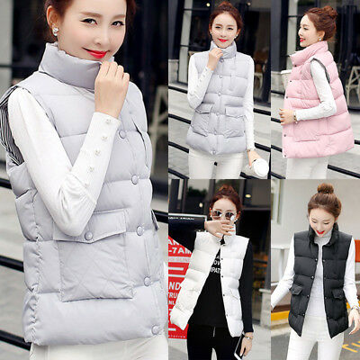 Women New Casual Sleeveless Warm Vest Coat Jacket Outfit Slim Winter Cotton NEW