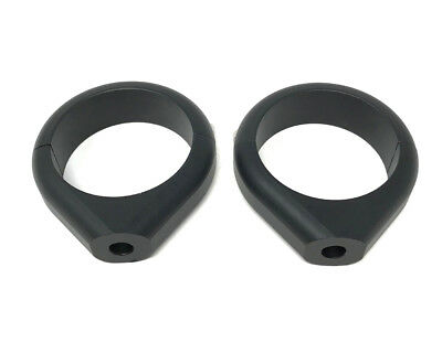 Motorbike Indicator Relocator Fork Clamps - 50/51mm - Black - High Quality