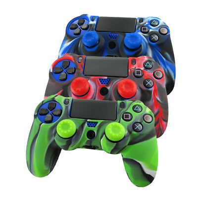Silicone Joystick Custodia Morbida Gel Ps4 Cover Impugnatura Mimetico Aderente