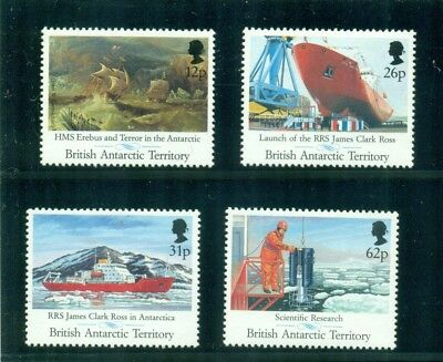 British Antarctic Territory 1991 RRS James Ross Clark Ship MNH SG 200-203