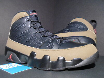 cheaper 7a997 a048f 2012 Nike Air Jordan Ix 9 Retro Black Red Light Olive Green Bred 302370-020