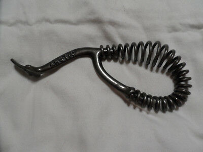 Vintage Arctic Wood/coal Stove Lid Lifter Tool With Coil Spring Handle Nm Cond