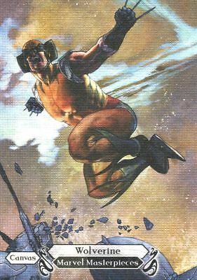 Marvel Masterpieces 2018 Canvas Base Card 96 Wolverine