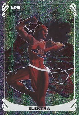 Marvel Masterpieces 2018 Holofoil Chase Card 5 OF 20 Elektra