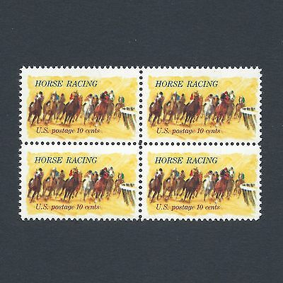 Horse Racing - 100th Kentucky Derby Vintage Mint Set of 4 Stamps 44 Years Old!
