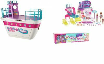 Barbie Cruise Ship Boat Playset with Dolls and Accessories Large Box Set