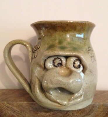 Ugly Face Studio Pottery Jug Vgc Art Pottery
