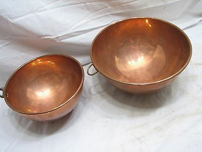 Pr Vintage Copper Confectioners Heavy Mixing Bowl Kitchen Tool Douro England